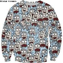 PLstar Cosmos Hot sale Rick and Morty Sweatshirts Men Women Streetwear casual Pullovers Scientist Rick 3d Print hoodies coat