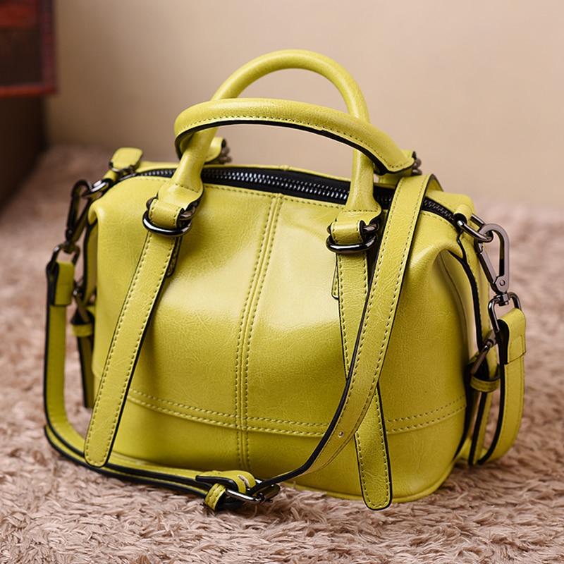 Designer Genuine Leather Women's Handbag 2018 Simple Bag Large Capacity Fashion Office Shoulder Bag Ladies Top Handle Bag Tote цена