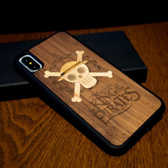 One piece Real Wood Phone Case For iphone