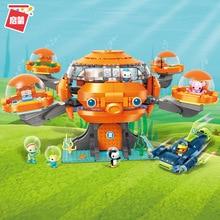 Octonauts Building Block Octo-Pod Octopod Playset CUP-Q Hammerhead Shark Vehicle Barnacles Peso Tweak Inkling Legoes Bricks
