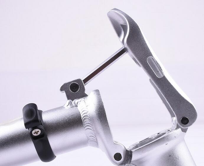 Opvouwbare fietsen fiets stuurpen riser 28.6*25.4*420mm alloy 6061 fiets accessoire toseek Aluminium zwart wit - 5