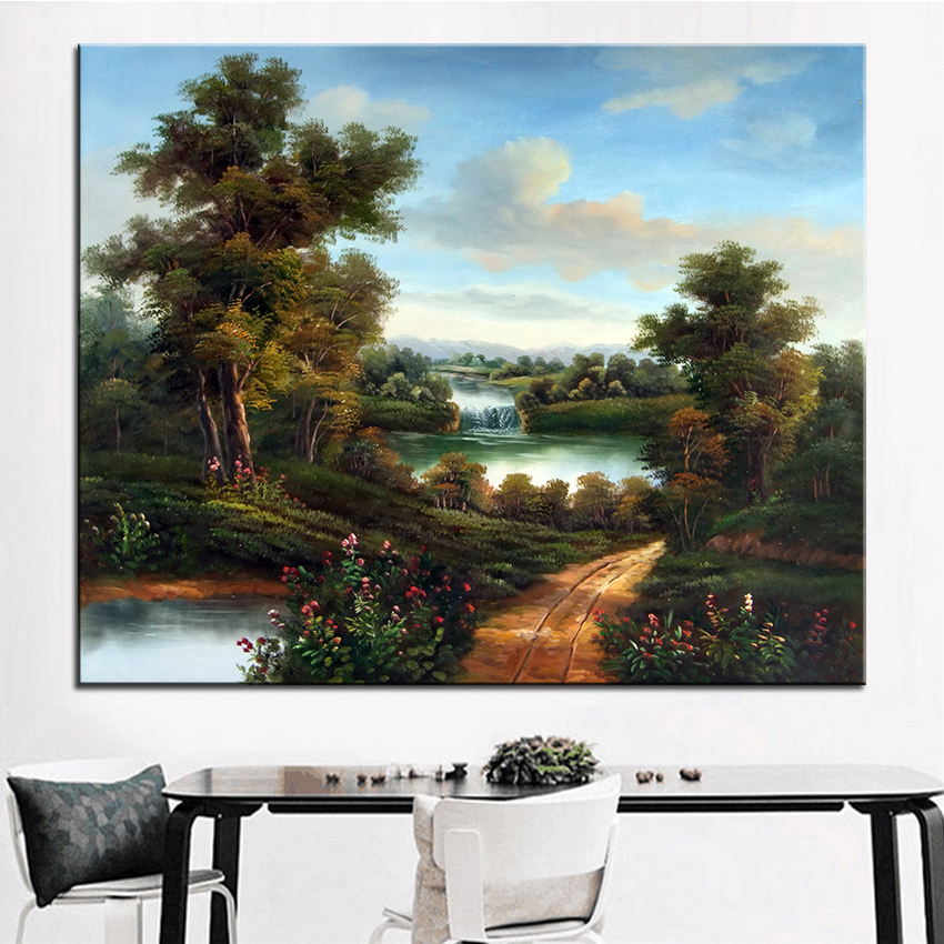 Extra Large Wall Painting Of Deep Pool Home Office