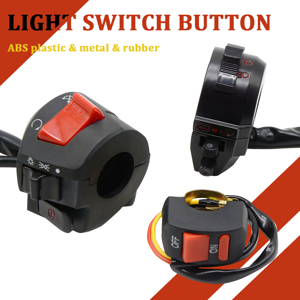 Motorcycle Turn Signal Electric Fog Lamp Light Start Handlebar Controller Switch For HONDA CBR600 F3 F4i BMW SUZUKI DUCATI KTM image