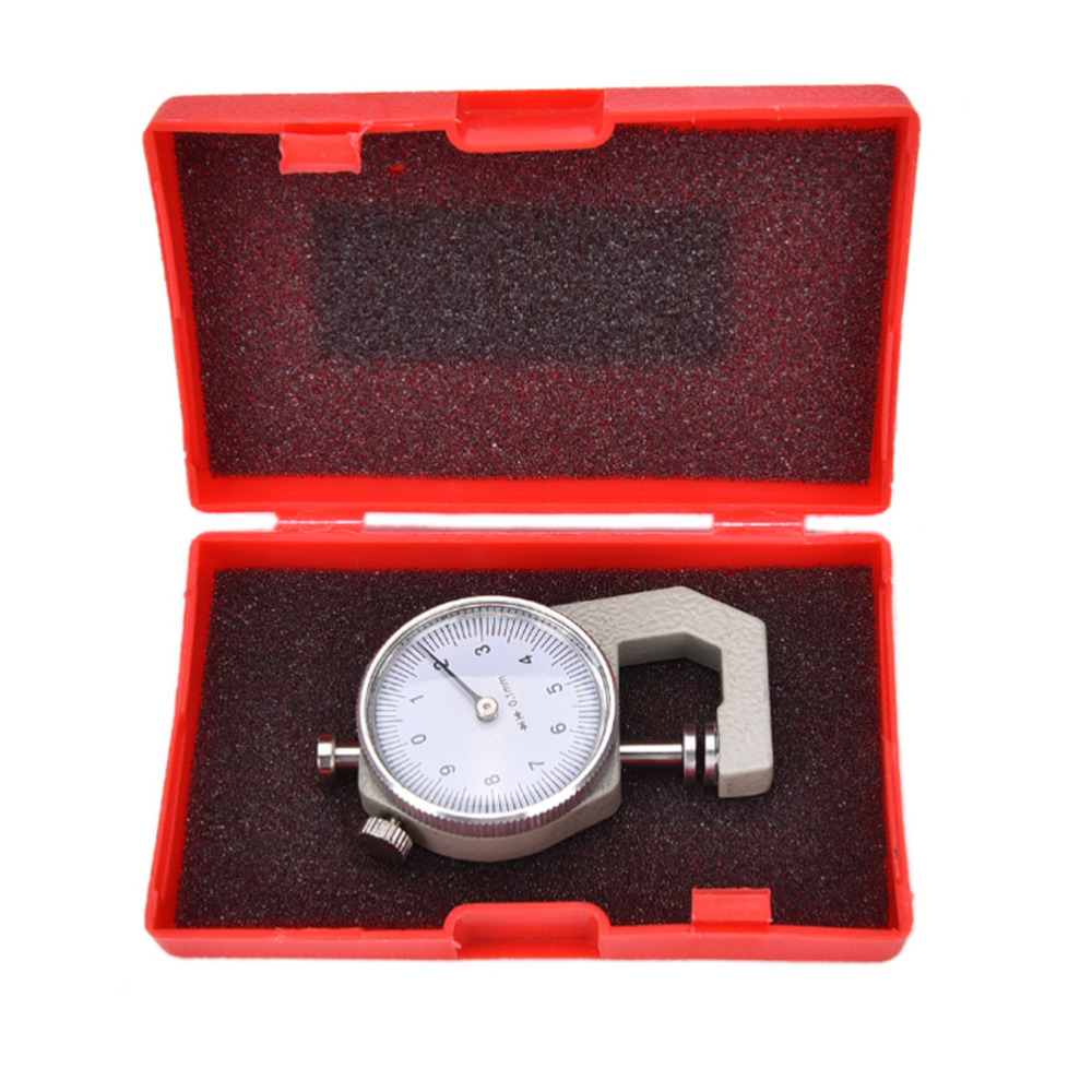 1PCS 0-10mm New Dial Thickness Gauge 10mm Leather Paper Thickness Meter Tester For Leather Flim Paper