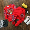 baby boys clothes casual cartoon tiger print sets for boy 2016 new spring clothes top fleece +pants 2pcs toddler boy clothes