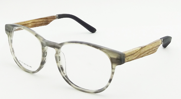 2014 fashion eyeglasses mens glasses wood frames new design acetate frame woodrubber temples optical frame model zf110 in eyewear frames from mens - Wood Frame Glasses
