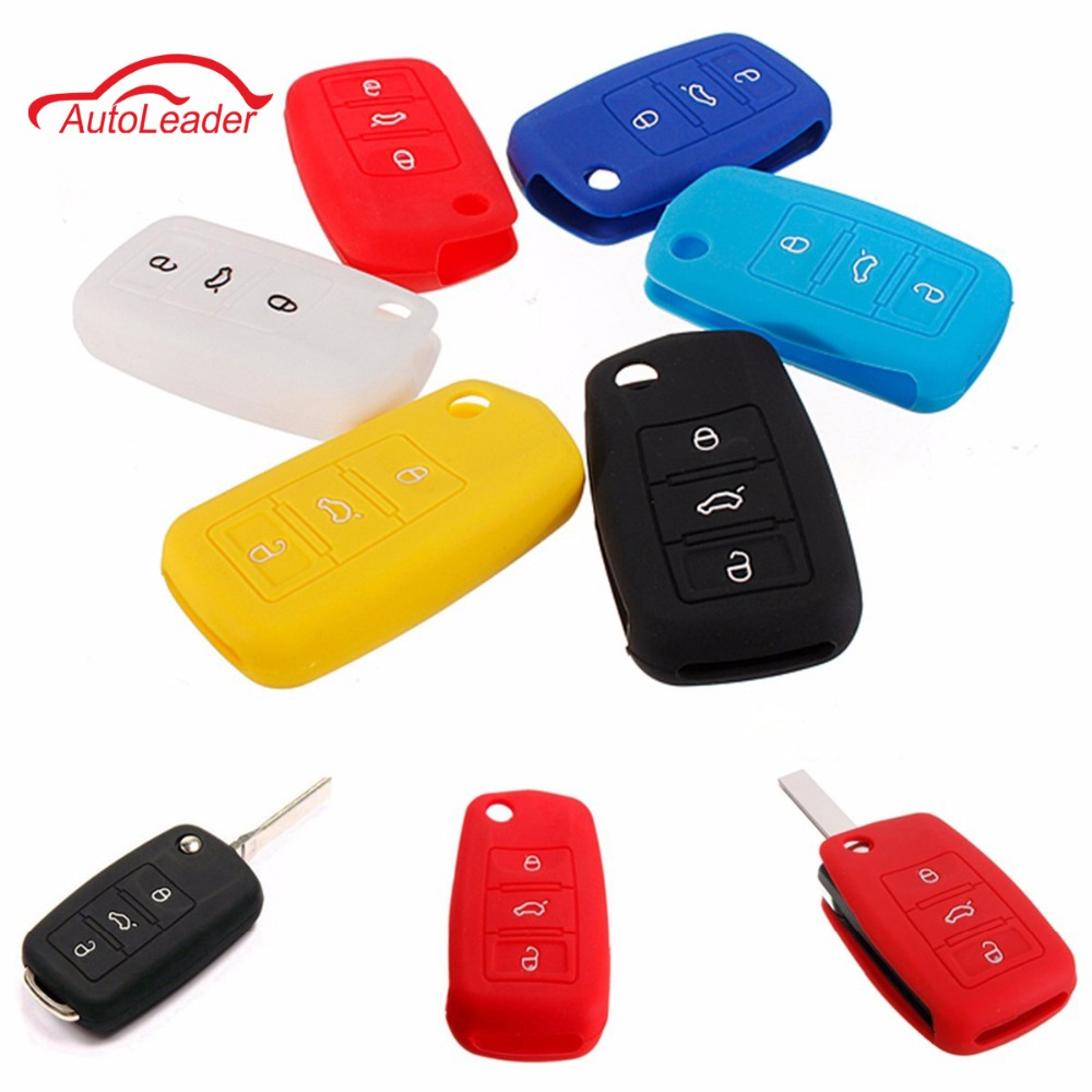 6 Colors Silicone Remote Key Case Shell Cover Fob For Vw