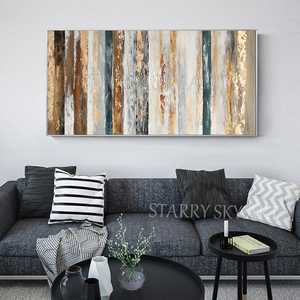 Image 3 - New Arrivals Hand painted Contemporary Wall Art Golden Abstract Oil Painting on Canvas Interior Design Art Golden Oil Painting