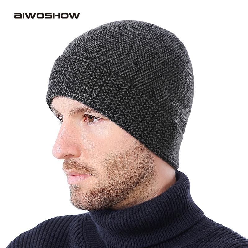 Winter cashmere mens cap hats Fashion Bo