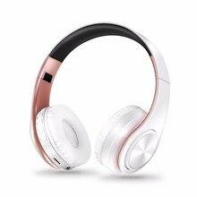 Nieuwe collectie kleuren draadloze Bluetooth hoofdtelefoon stereo headset muziek headset over de oortelefoon met microfoon voor iphone sumsamg