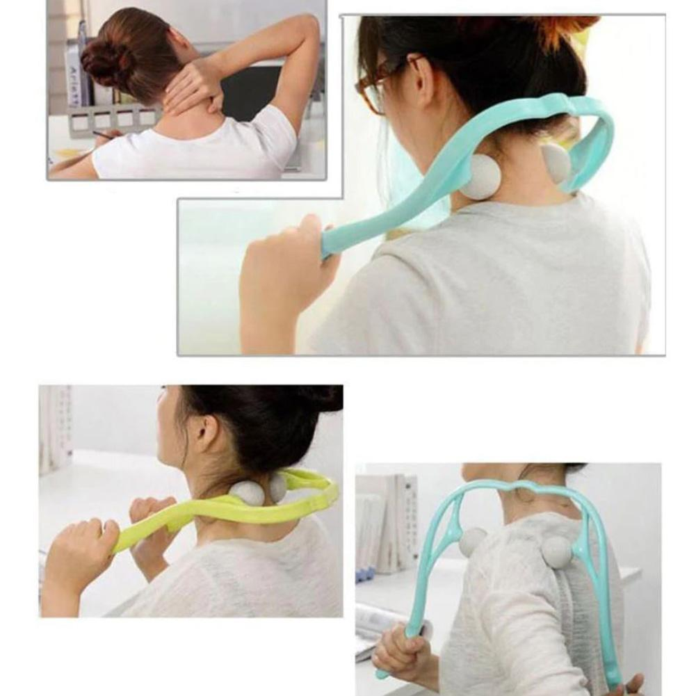 Neck Massager for Neck and Shoulder Dual Trigger Point Self Massage Tool Simulates Massage Deep Tissue Massage Therapist Hands in Massage Relaxation from Beauty Health