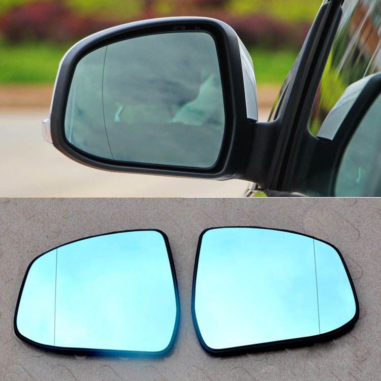 Savanini 2pcs New Power Heated w/Turn Signal Side View Mirror Blue Glasses For Ford Focus