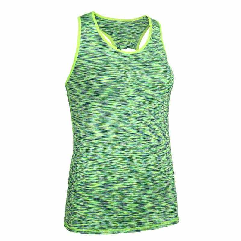 Women QUICK-DRY Gymming Vest Sporting T Shirt Yogaing Workout Fitness Exercise Runs Clothing Tee Tank Tops Singlets Vest V110