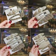 2/3/4/5 Pcs Pearl Hair Clip Cute Imitation Beads Barrette Stick Hairpin Women Korean Accessories handmade For Girls