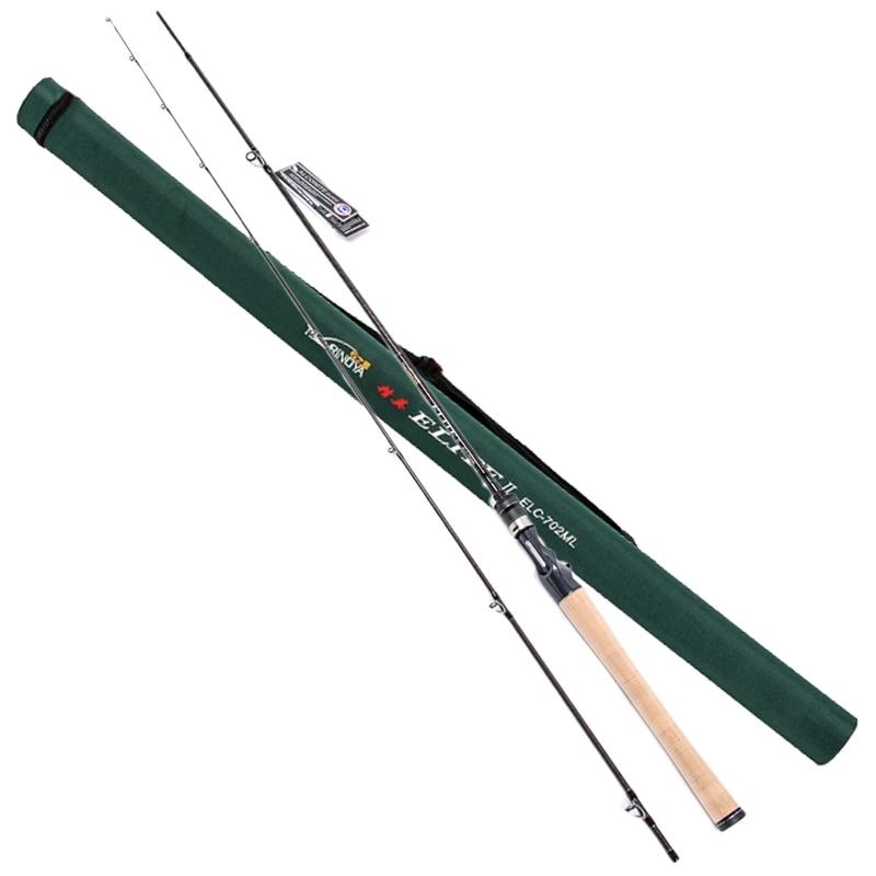 Trulinoya 2.13m Power:ML Baitcasting Fishing Rod 2Secs 6-14g Carbon Lure Rods FUJI Accessories Action:MF Pesca Stick Tackle