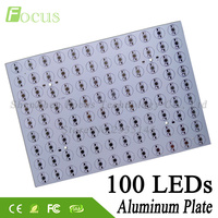 5 pçs/lote 1 W 3 W 5 W Placa De Alumínio 326x228x1.2mm PCB Com 1 3 Contas de Luz de 5 Watt COB Para Crescer Holofote Industrial luz