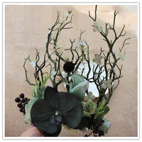 Halloween Party Headwear Exaggerated Wreath Headdress Bride Flowers Model Photo Studio Catwalk Stage Accessories