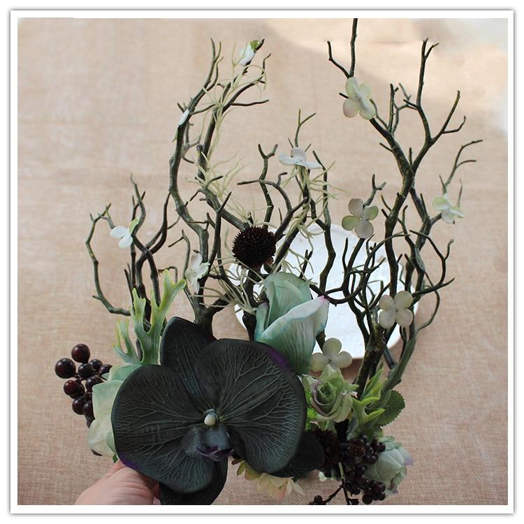 Halloween Party Headwear Exaggerated Wreath Headdress Bride Flowers Model Photo Studio Catwalk Stage Accessories