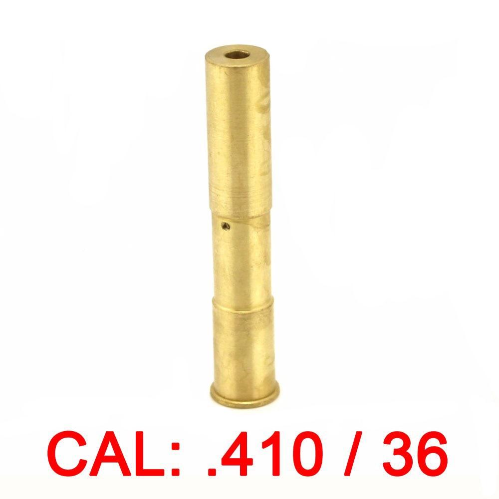 410/36 Cartridge Red Laser Bore Sighter CAL: .410/36 Laser Boresight Copper Hunting .410 36 Laser Red Dot