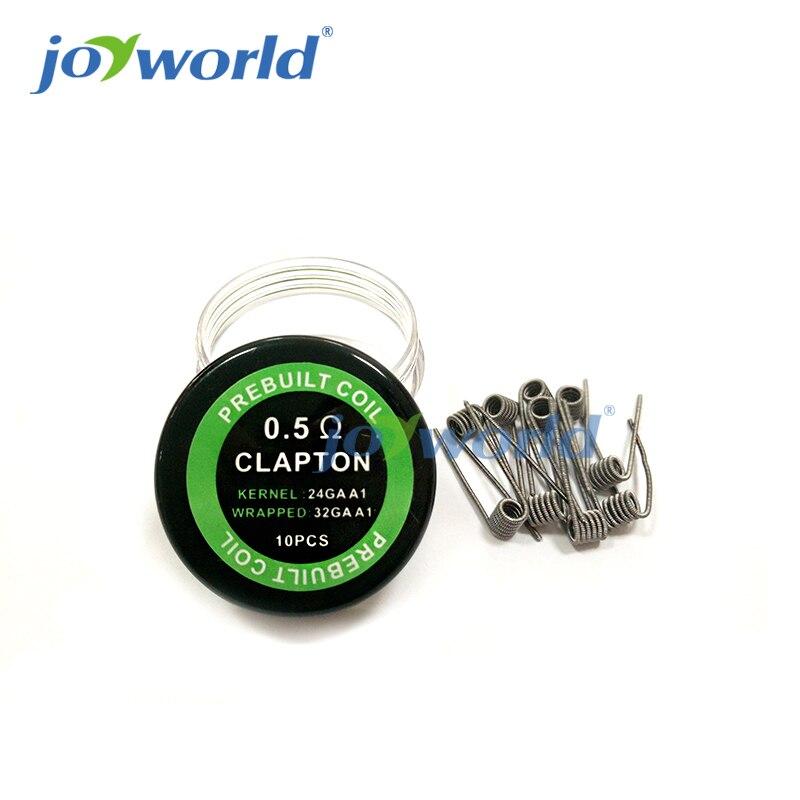 10pcs Prebuilt clapton coil 0.4ohm Tiger wire Quad insulated ...