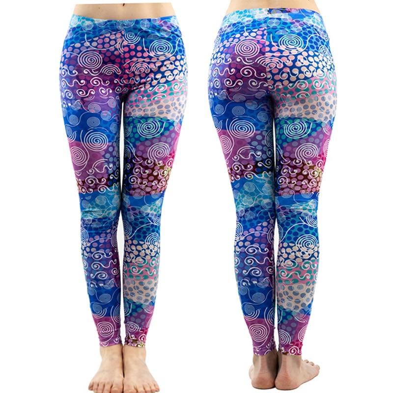 Women Fashion Vintage Flower Printed Pants Female Black Elastic Slim Fitness Leggings