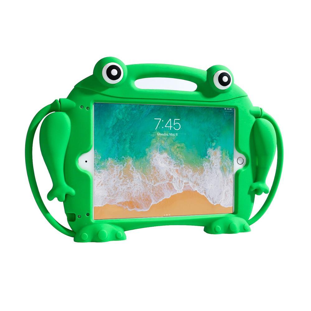 Custodia In Silicone sveglio per iPad 5 6 7 8 Pro 9.7 del Capretto amichevole Carry per iPad Air 2 Antiurto Lavabile caso Tablet per iPad 2017 2018
