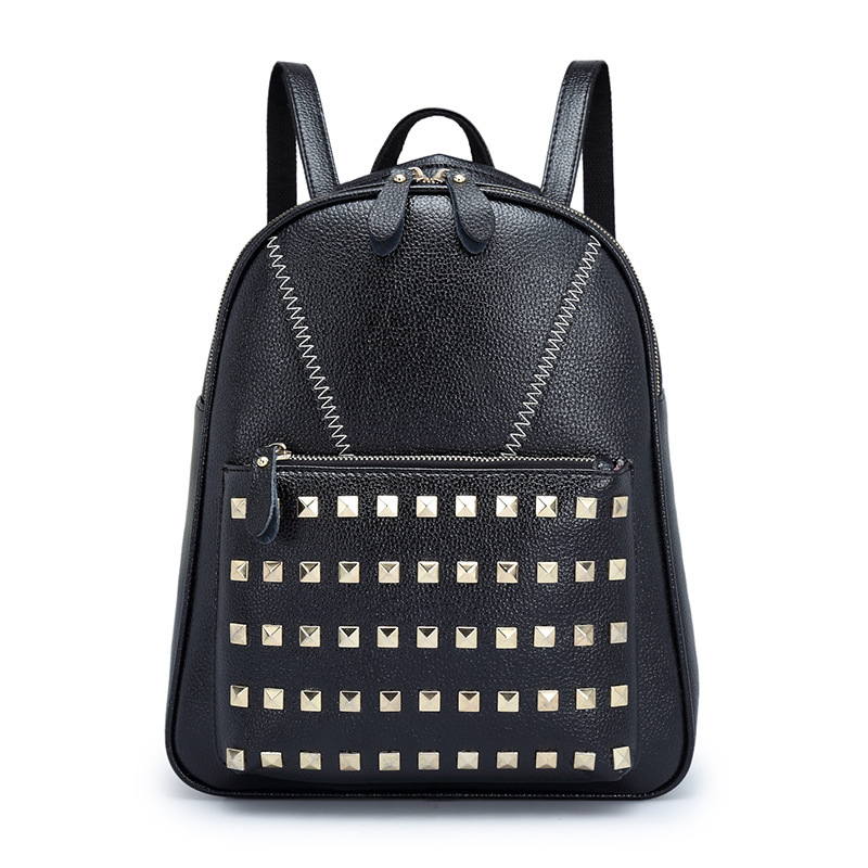2017 New Fashion  Rivets Backpack For Women College Student  School Bag Girls Backpacking Bag Mochila Escolar Female Rucksack инструментальные материалы учебное пособие