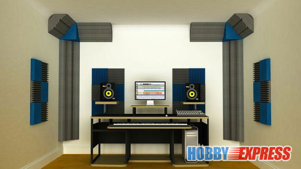 Arrowzoom 2 st Basfälla Akustisk panel Ljudabsorption Studio Skum - Heminredning - Foto 5