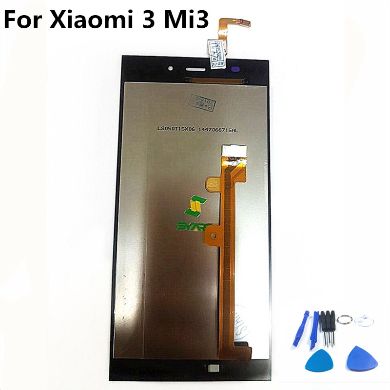 100% Tested AAA Quality LCD <font><b>Display</b></font> With Touch Screen Digitizer Assembly For <font><b>Xiaomi</b></font> 3 <font><b>Mi3</b></font> M3 image