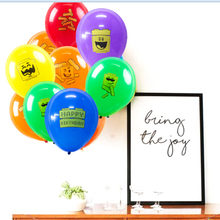 18pcs (10inch/25cm) Building Block Party Balloons with 4 Fun Character Patterns Brick Theme Kids Birthday Brick and Block Signs бордюр brick building