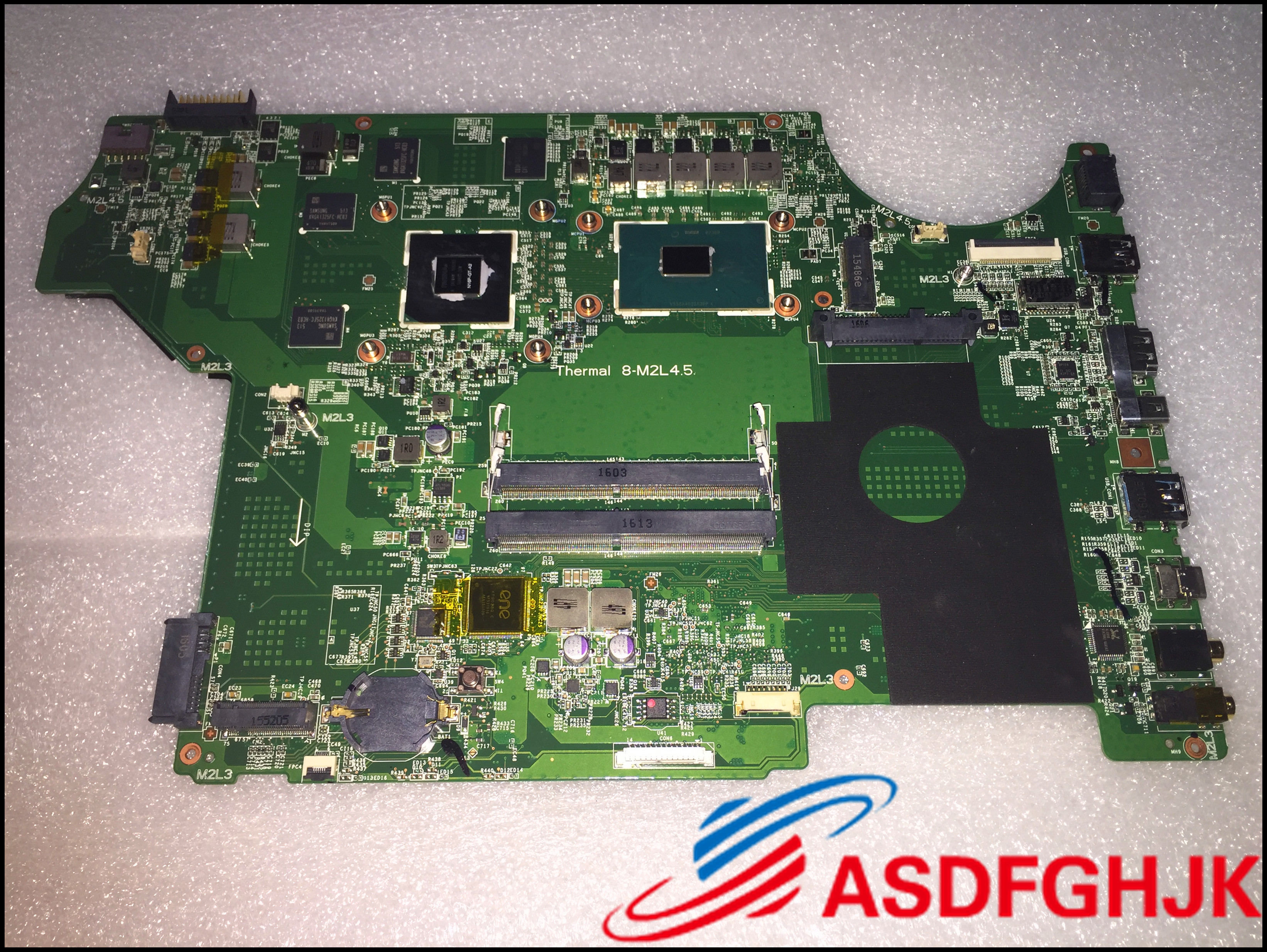 Original MS-16J51 MS-17951 For MSI GE72 GE62 LAPTOP MOTHERBOARD WITH I5-6300HQ AND GTX950M  Test OK Free Shipping