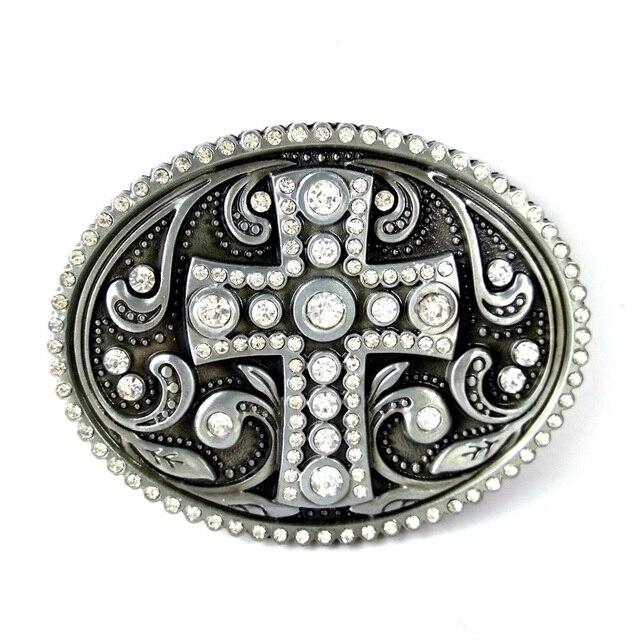 Western boucles de ceinture pour les Femmes vintage croix ceinture Boucle  avec strass personnalisé ceinture accessoires 2a9028622f3