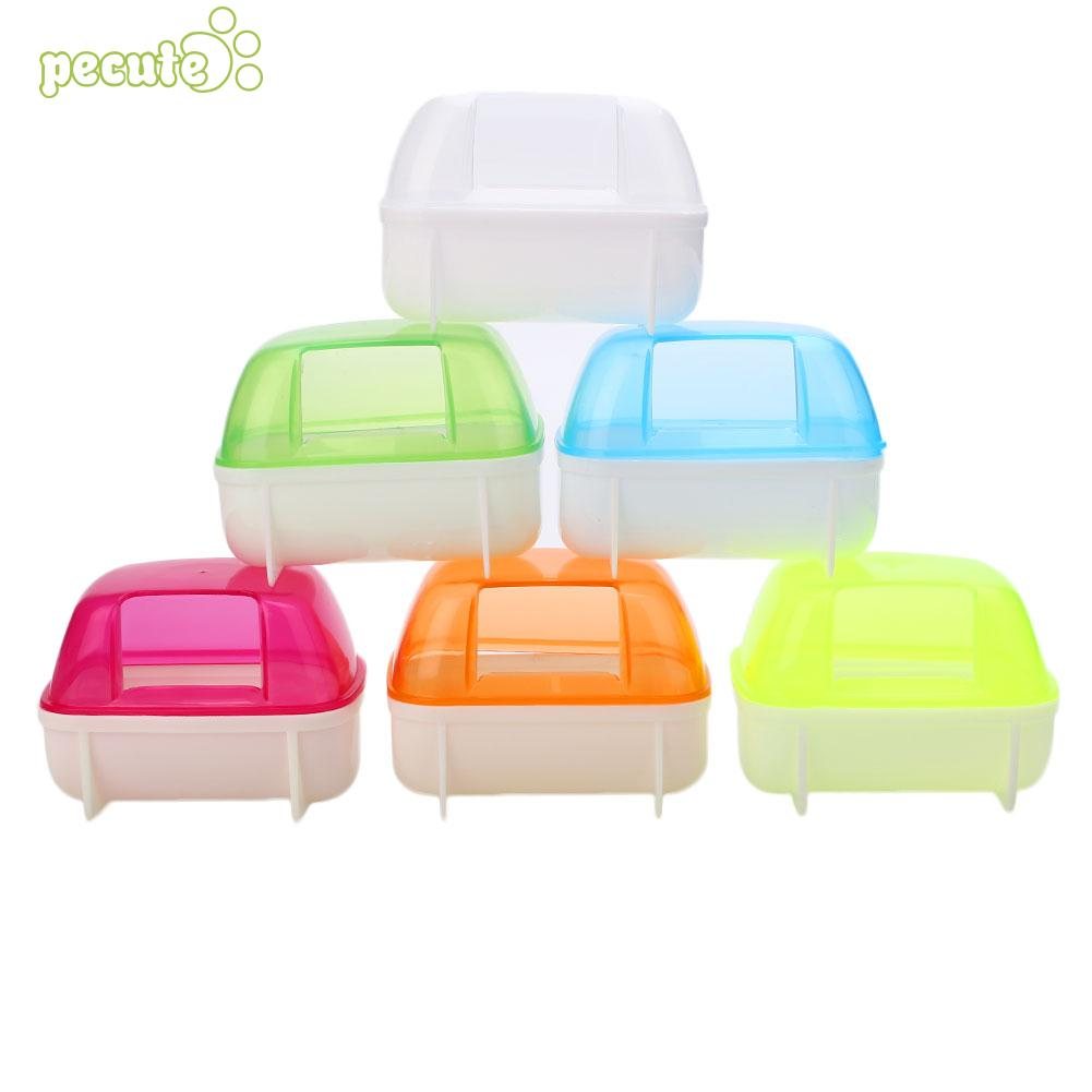 Devoted Round Type Bath Sandbox Random Color The Color Looks Good Sauna Room Pet Bowl Bathroom Cute Hamster Acrylic Home