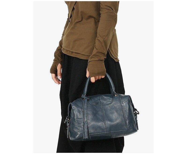 MJ Women Genuine Leather Handbag Female Real Cow Leather Tote Bag Ladies Large Capacity Shoulder Bag Crossbody Bags for Women (7)