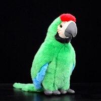 30cm Cute Lifelike Green Parrot Plush Toy Realistic Macaw Bird Stuffed Toys Dolls Birthday Christmas Gift Kids Toys