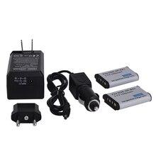 Big sale 2x1450mAh Rechargeable Battery 3.7V Li-ion NP-BX1 NP BX1 Digital Batteries Bateria +Charger+Car Charger For Sony DSC RX100 HX300