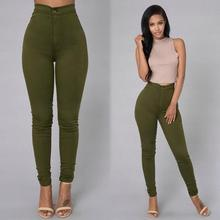 2018 Solid Wash Skinny Jeans Woman High Waist NEW Denim Pants Plus Size Push Up Trousers  warm Pencil Pants Female