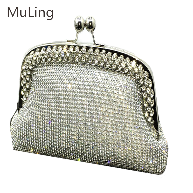 2017 Brand Fashionable Diamonds Dinner Party Purse Banquet Package Evening Women Wallet Hand Bag Women Socialite Party Prom Bag