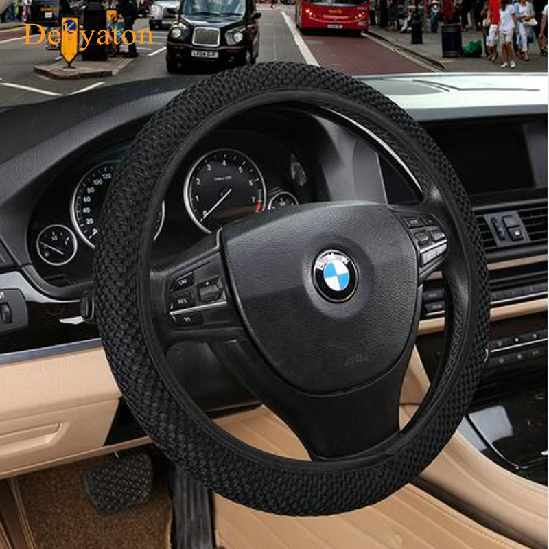 Universal Steering Wheel Cover 38cm Summer warm Auto Interior Accessories direction automobile covering set Steering Wheel Cover