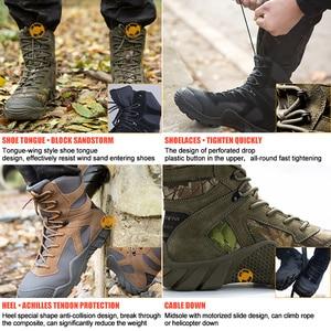 Image 2 - الجندي الحر في الهواء الطلق التخييم التكتيكية أحذية عسكرية التمويه القتالية المشي لمسافات طويلة أحذية الصيد