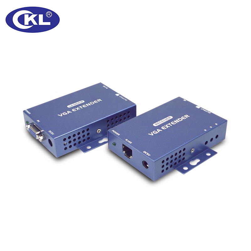 CKL Up to 984 Feet/300 Meter over Cat5e VGA Extender Support Audio with 1.5m Cable (metal Case) team up 3 sb reader with audio cd