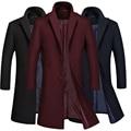 2016 Inverno Jakets Para Homens E Parques de stand-up colarinho jaqueta corta-vento dos homens casaco de lã engrossado pacote Gratuito correio