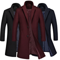 2016 Winter Jakets For Men And Parks stand-up collar men's windbreaker jacket thickened woolen coat Free package mail