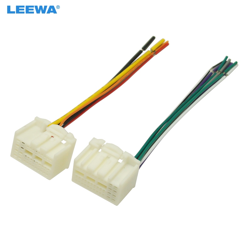 Leewa 10pcs 35pin Car Stereo Wire Harness Adapter Connector Plug Into Radio For Kia K2  K3  K4