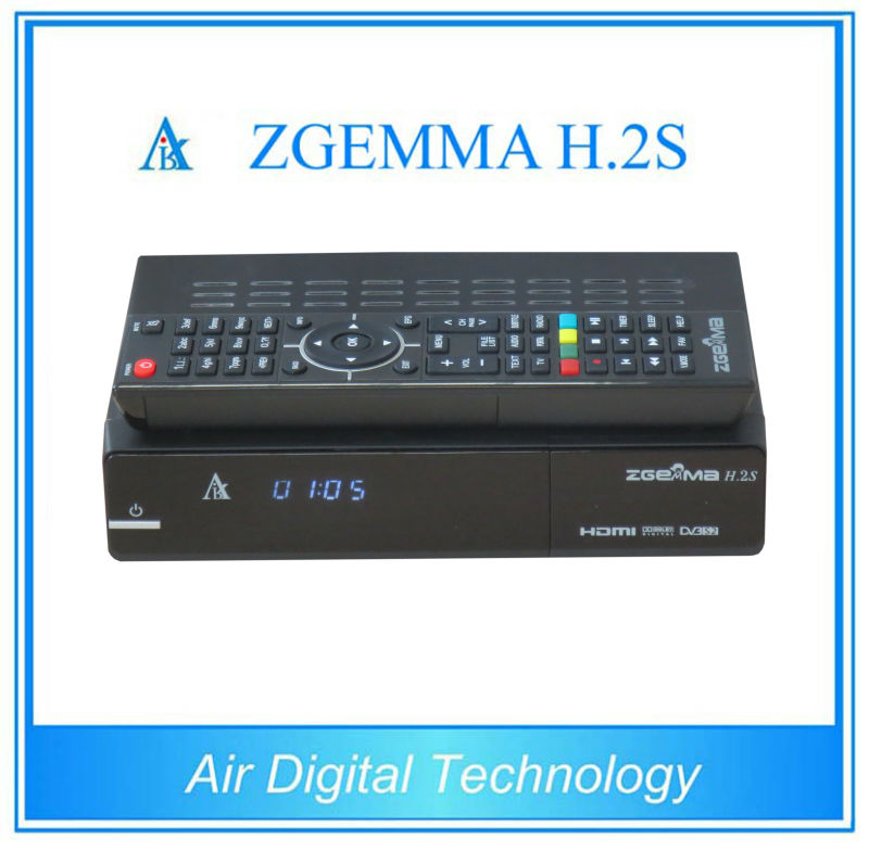 2 pcs/lot DVB S/S2 twin tuner enigma 2 Linux fastest running ZGEMMA H.2S Satellite tv receiver support world tv receiver 10pcs zgemma star i55 support satip iptv box bcm7362 dual core mainchipset 2000 dmips cpu linux enigma 2 hdmi connection