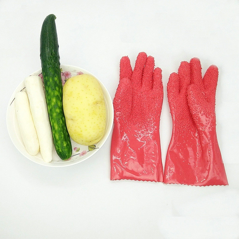 Creative Peeled Potato GlovesVegetable Rub Fruits Skin Scraping Fish Scale Non-slip Household Glove  dishwashing gloves