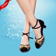 7 Colors Red Blue Tango Salsa  Ballroom Women Latin Dance Shoes Dancewear Dancing Shoes For Women 3.5/5.5/7 CM Heel Height