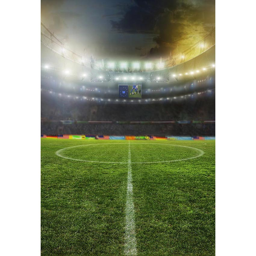 Vinyl Photography Background Football Field Soccer Match Children Fotografia Backgrounds for Photo Studio G-291