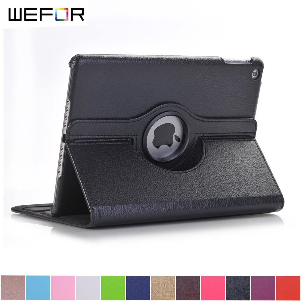 Case Cover For Apple iPad 2017 9.7 PU Leather Flip Smart Stand 360 Rotating For New iPad 9.7 2017 Case flip left and right stand pu leather case cover for blu vivo air