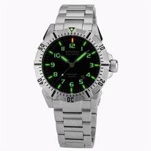 EPOCH 6020G bracelet en acier étanche 100 m tritium gaz tubes lumineux sport plongée montre à quartz